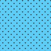 Tiny polka hearts for cute toucans