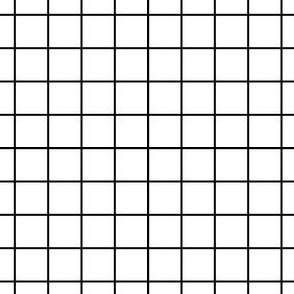Sewing Swatches Grid - Black on White