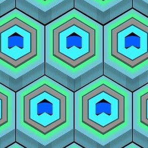 Peacock Hexagon 2