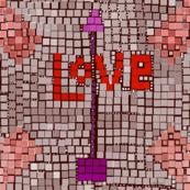Love mosaic Geometic by Salzanos