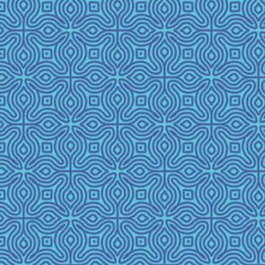 Blue Swirl Geometric