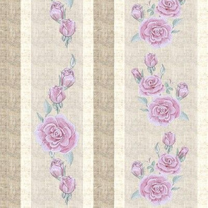 Old Fashioned Rose Stripe Dark Pink