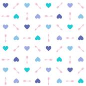 Cupid* (Blues) || arrow arrows heart hearts valentine valentines day love pastel