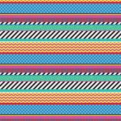 Colorful Washi Tape Stripes Zigzag Small