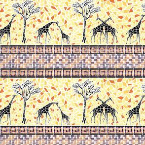 Giraffe Stripes Mosaic