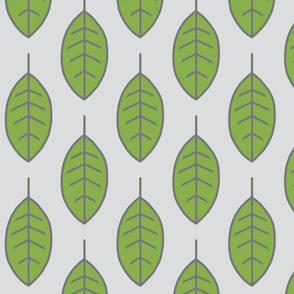 Leaves - Greenery Pantone and Grey
