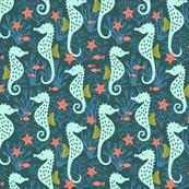 Seahorse coral ocean