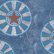 Stars on blue textured background
