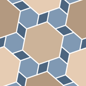 hexes 2to1 x3 : natural stone