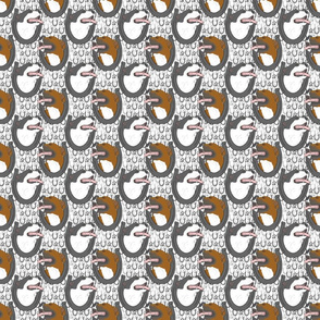 American Pit Bull Terrier horseshoe portraits - small