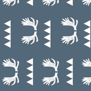 moose fabric // moose antlers design railroad fabric by andrea lauren