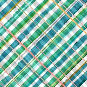Gingham Linen Multi Diagonal