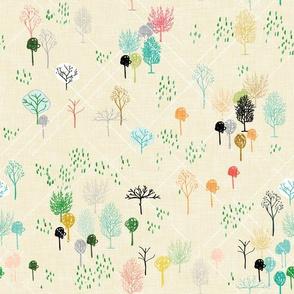 Ambrosia Arbor (cream linen)