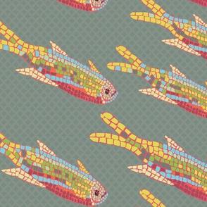 Mosaic Fish muted