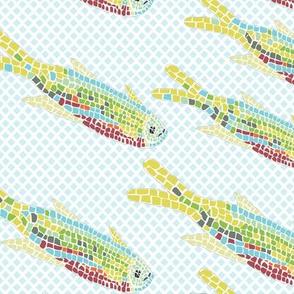 Mosaic Fish light