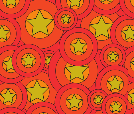 Circle star pattern fabric vmathis spoonflower for Star design fabric