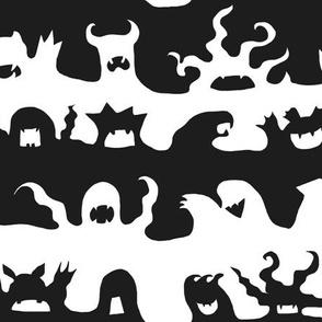 Monster stripe black and white
