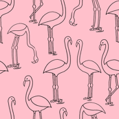 flamingo fabric // birds tropical summer pink  andrea lauren fabric