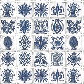 Vintage tile mosaic