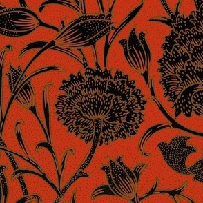 William Morris ~ Wild Tulip ~ Libertine, Gilt and Black