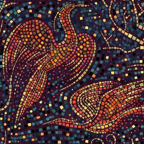 Mosaic Cranes
