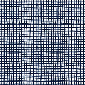navy grid fabric home decor interior design