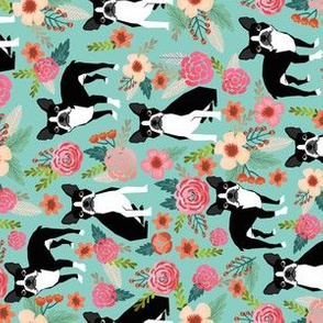 boston terrier fabric florals spring dog fabrics