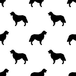 Golden Retriever silhouette dog breed fabric black white