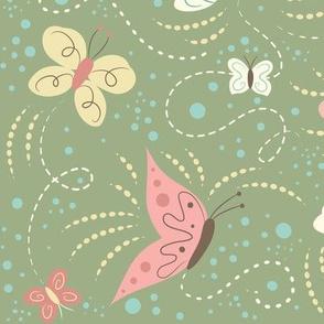 Butterfly_Frolic_Green
