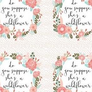 "wildflower 4"" block fabric"