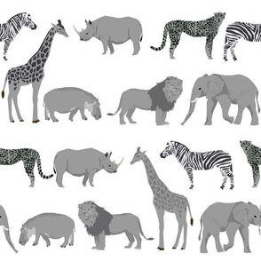 safari animals fabric safari nursery design light grey neutral nursery