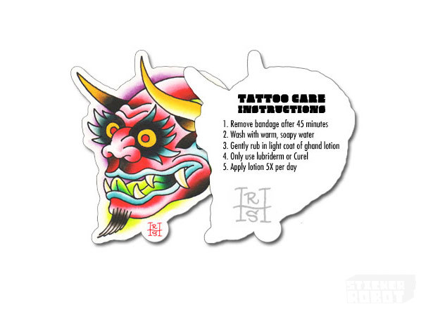 Custom-tattoo-care-instruction-sticker