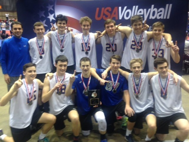 chicago ultimate-b-17 gold sitting in front of USA Volleyball