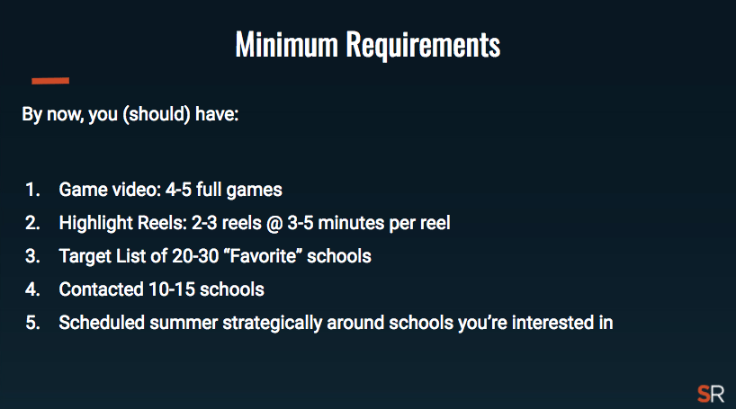 Minimum Requirements Recruiting