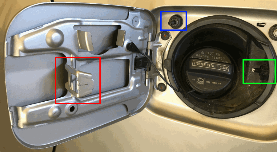 Fixed repair fuel door lid in 2nd gen sienna photos for Should i buy a toyota sienna or honda odyssey