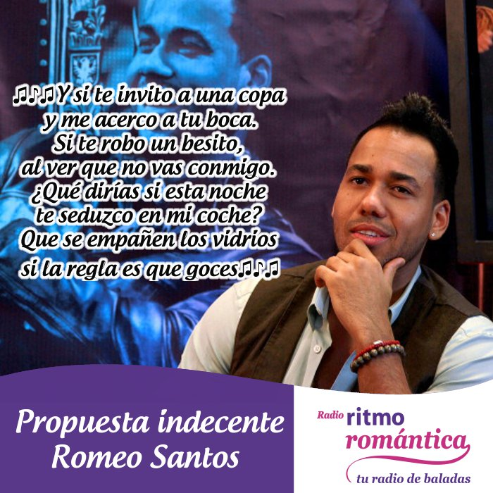 imagenes con frases de romeo santos Propuesta Indecente Quotes