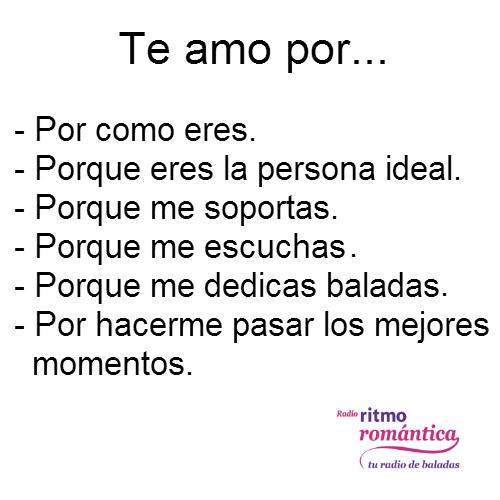 Te amo por...