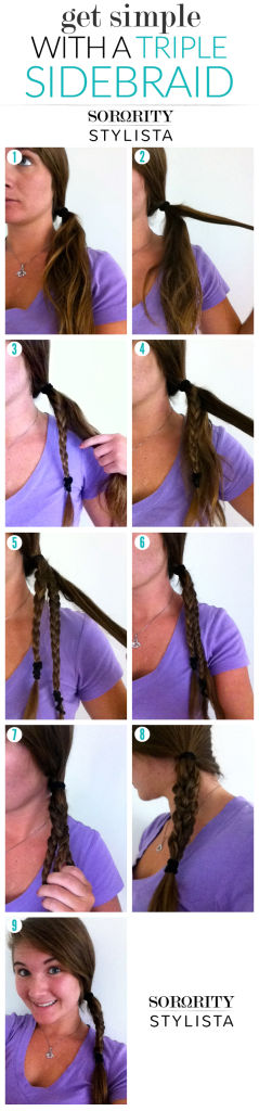 Get Simple With A Triple Sidebraid