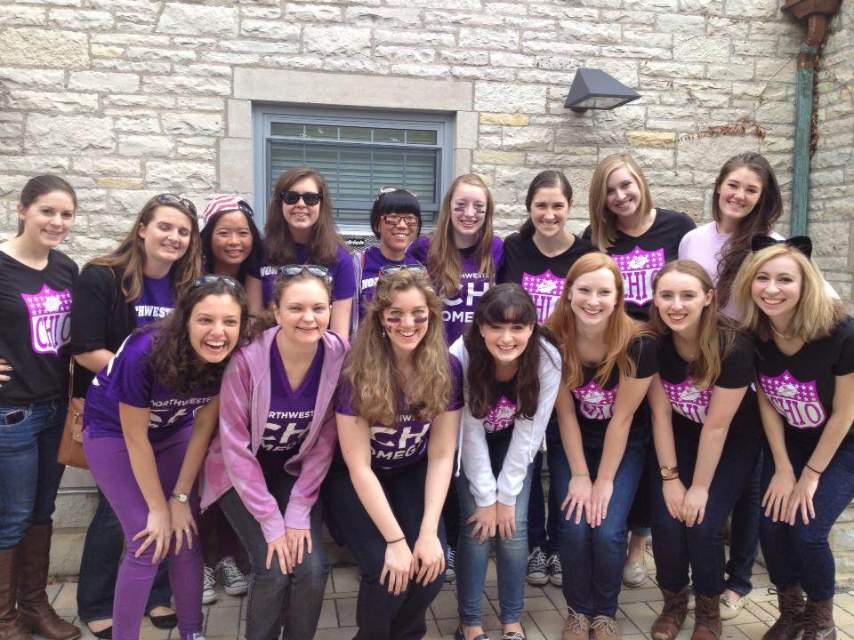 Chi Omega Goes Wild for NU Football