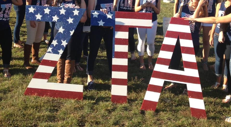 Zeta Tau Alpha Celebrates Bid Day American Style!