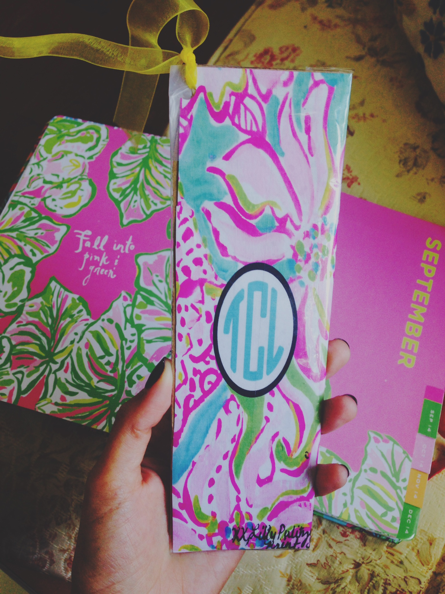 DIY: Lilly Pulitzer Inspired Agenda Bookmark