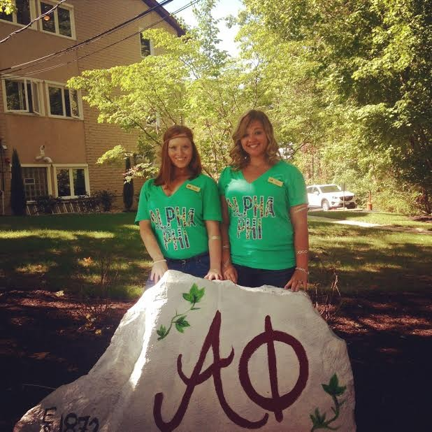 Bid Day is the Best Day for the Beta Omega Chapter of Alpha Phi