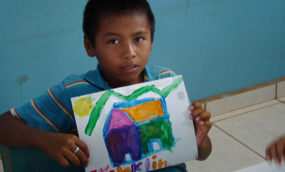 Finger Painting to Help orphans