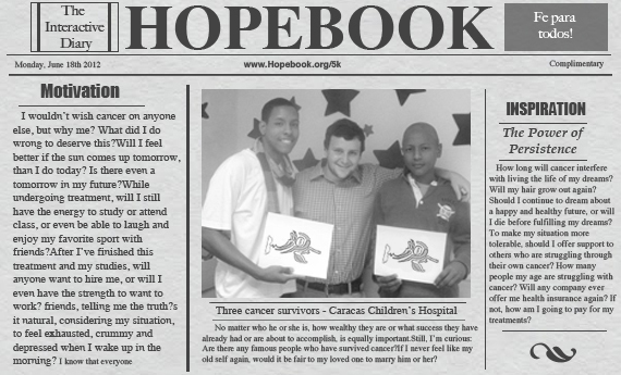 HopeBook - from cancer survivors to cancer survivors""""