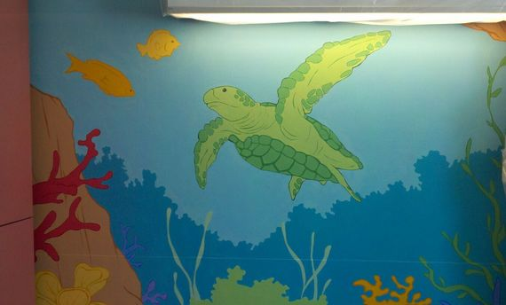 Creating ORIGINAL MURALS to help make hospitals less scary for kids!