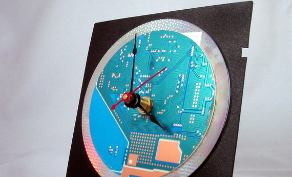 Computer Circuit Board Desk Clock