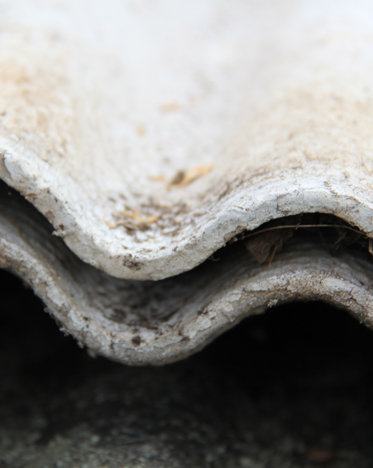 Close up of asbestos