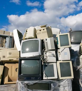 E-waste in landfill
