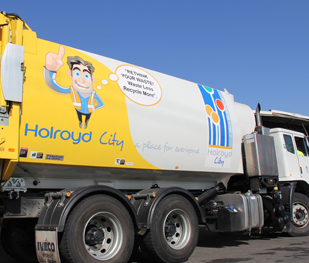 Holroyd City Council garbage truck