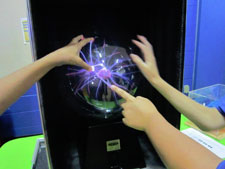 STEAM Assembly-children with plasma ball
